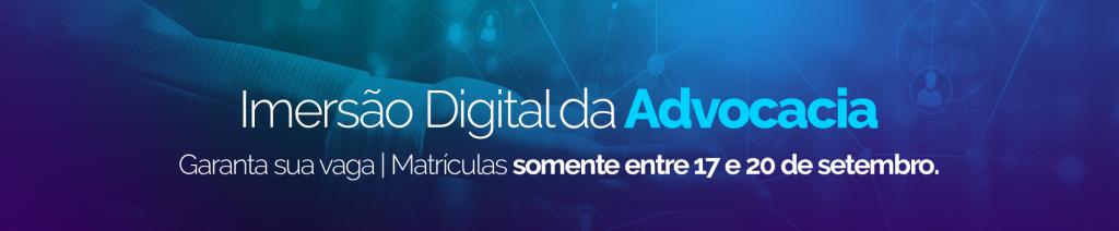 Banner sobre o Workshop de Advocacia Digital